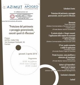 Invito Ferrara, 2 aprile 2015